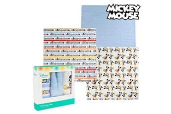 Trousse de toilette bébé Mickey Mouse Serviette de bain en mousseline mickey mouse 75378 bleu (pack de 3)