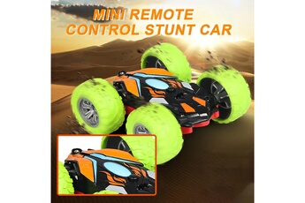 Circuits de voitures AUCUNE Voitures mini télécommandée double face spin roll enfants télécommande jouet -b