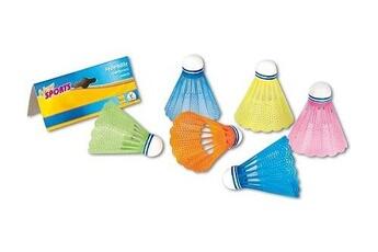 Jouets éducatifs New Sports Sachet de 6 volants multicolores de badminton en plastique - jeu de raquettes - plein air