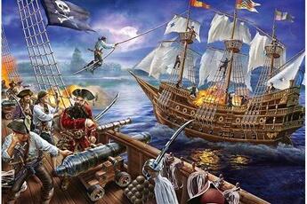 Puzzles Schmidt Spiele Schmidt spiele - non aventures avec les pirates, 150 pcs, 56252