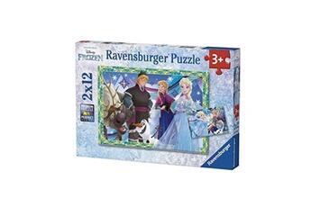 Puzzles RAVENSBURGER Puzzles 2 x 12 pi?ces ravensburger jeux d'hiver disney frozen la reine des neiges