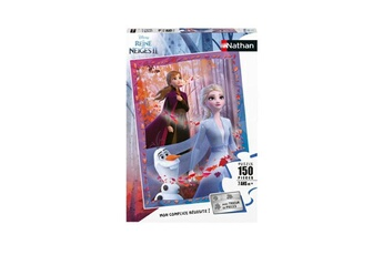 Puzzles Nathan Puzzle 150 pièces nathan elsa anna et olaf disney la reine des neiges 2