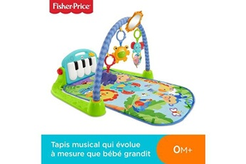 Tapis d'éveil Fisher Price Fisher-price tapis musical d'?veil et d'activit? piano pour b?b?, aire de jeu, avec 4 modes, d?s la naissance, bleu, bmh49