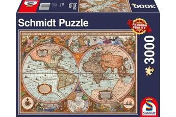 Puzzles Schmidt Spiele Schmidt spiele 58328 puzzle carte du monde antique multicolore 3000 pièces puzzle