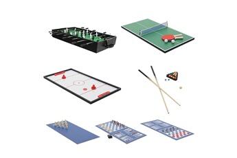 Baby foot Mendler Table de baby-foot hwc-j15, 7 jeux en 1 table de jeu multijoueur, mdf 82x107x60cm ~ noir