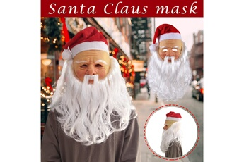 Jouets éducatifs Generic Santa claus mask headgear latex mask halloween christmas day party performance multicolore_ci3767