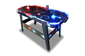 Accessoires Baby foot Pro Soccer Air hockey table à air - table de air hockey 146 cm fire & ice led- jeux de palet - jeux arcades bar