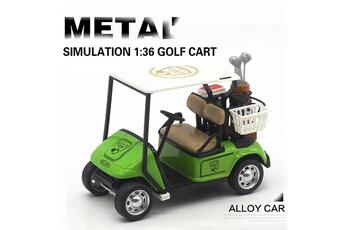 Accessoires pour maquette AUCUNE Accessoires pour maquette modèle de chariot golf en métal moulé sous pression, jouet amovible, véhicule à l'échelle 1:36, 4,5 pouces -vert