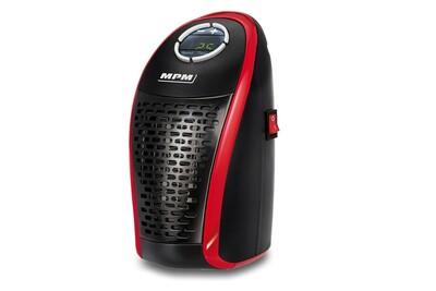 Convecteur Mpm Mpm mug-18 mini chauffage portable sans fil en céramique, contrôleur de température 15-32ºc negro/rojo