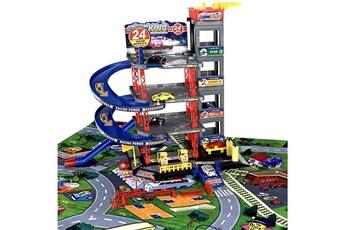 Véhicules miniatures Lean Toys Parking lot garage voitures 4 niveaux avec ascenseur et grand tapis