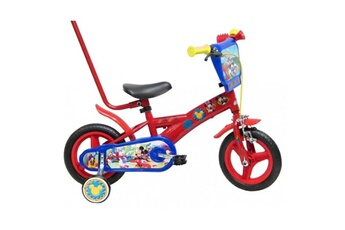 Vélos enfant Mickey Vã lo enfant garã§on mickey - 10 pouces avec canne de guidage (1/3 ans) - coloris rouge - ( distributeur officiel )