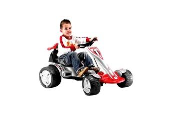 Véhicules miniatures Hucoco Voiture électrique enfant 12v injusa big wheels kart electric - rouge et blanc