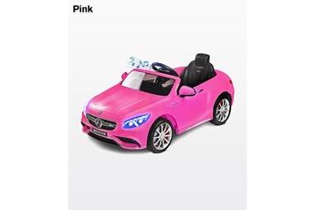 Véhicules miniatures Hucoco S63 amg | voiture éléctrique enfant | mercedes-benz s63 amg | moteur 12v | age 3+ | jusqu'à 30 kg | avec musique et télécommande | rose