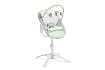 Chaise haute Hucoco Kimmi | chaise haute évolutive 3en1 transat + balancelle bébé/enfant 0+ jusqu'à 15 kg | inclinable + musique + vibrations | menthe