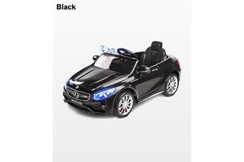 Véhicules miniatures Hucoco S63 amg | voiture éléctrique enfant | mercedes-benz s63 amg | moteur 12v | age 3+ | jusqu'à 30 kg | avec musique et télécommande | noire
