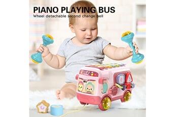 Circuits de voitures GENERIQUE Le piano mmultifunctional eight-tone le piano music bus toy couleur