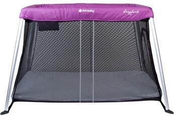 Parc bébé Hucoco Chic - lit parapluie 2en1 - lit de voyage bébé/enfant - fonction parc - dès la naissance 15 kg max - 2 niveaux - sac de transport - violet noir