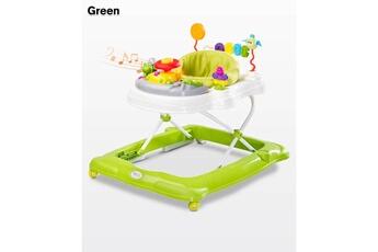 Trotteur Hucoco Trotteur bébé enfant | dès 6 mois | jusqu'à 12 kg | plateau d'éveil électronique | siège pivotant | sons lumières musique | verte