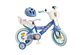 Vélos enfant Shot Case La reine des neiges vélo 14 + casque - enfant fille - bleu et blanc