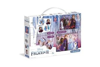 Jeux de cartes CLEMENTONI Clementoni mini edukit - la reine des neiges 2 - dominos, puzzle et 6 cubes