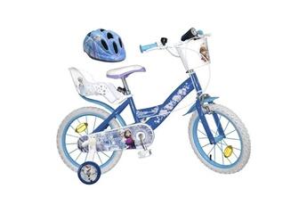 Vélos enfant Shot Case La reine des neiges vélo 16 + casque - enfant fille - bleu et blanc
