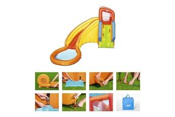 Aire de jeux gonflable Bestway Bestway aire de jeux a air constant avec toboggan et pataugeoire splash tower h2ogo!
