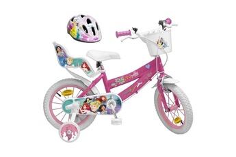 Vélos enfant Shot Case Disney princesse vélo 14 + casque - enfant fille - rose et blanc