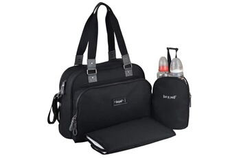Sac à langer Baby On Board Baby on board- sac a langer - sac urban classic black - 2 compartiments a large ouverture zippée - 7 poches - sac repas - tapis
