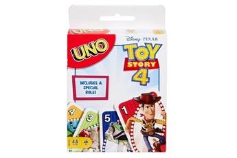 Jeux de cartes Mattel Games Uno - toy story 4 - jeu de cartes famille aux couleurs du film disney pixar - de 2 a 4 joueurs - 7 ans et +