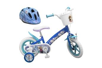 Vélos enfant AUCUNE La reine des neiges vélo 12 + casque - enfant fille - bleu et blanc
