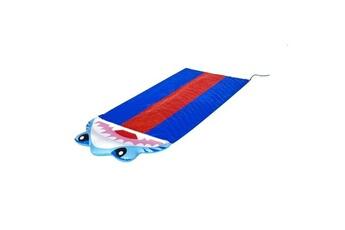 Aire de jeux gonflable Bestway Tapis glissant 3 pistes splashy shark + connexion tuyau arrosage bestway