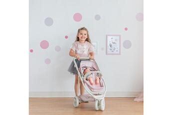 Accessoires de poupées Olivia's Little World Le petit monde d'olivia - poussette 2-en-1 princesse à pois polka dots - rose / gris ol-00009