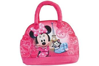Coffre à jouets Cijep Sac à main bowling disney minnie et figaro couleur rose - 25 x 27, 5 x 9 cm