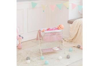 Accessoires de poupées Olivia's Little World Baignoire bain table ? langer de poup?e poupon rose olivia?s little world ol-00008