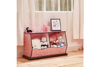Coffre à jouets Teamson Kids Meuble de rangement enfant en bois rose blanche teamson kids td-12473p