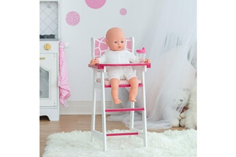 Accessoires de poupées Olivia's Little World Chaise haute pour poupon poup?e jouet rose motif girafe olivias little world td-0098af
