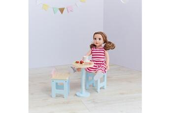 Accessoires de poupées Olivia's Little World Table et chaises accessoires de poup?e meuble jouet enfant olivia?s little world td-12887a