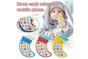 Jouets éducatifs GENERIQUE Jouet d'éducation précoce de téléphone de lune de bande dessinée de musique de lumière intelligente pour enfants