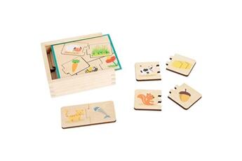 Autres jeux créatifs SMALL FOOT Jeu ?ducatif puzzle en bois nourrir les animaux
