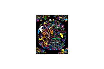 Peinture et dessin Juratoys-janod Coloriages fluo mandala animaux