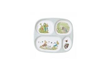 Vaisselle bébé PETIT JOUR Plateau 4 compartiments pierre lapin
