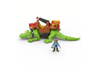 Figurines personnages Fisher Price Fisher-price imaginext crocodile et capitaine crochet - 3 ans et +