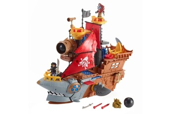 Figurines personnages Fisher Price Fisher-price imaginext bateau pirate requin - 3 ans et +