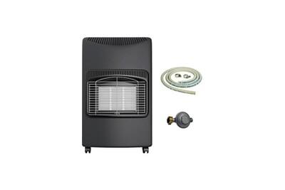Chauffage à pétrole / gaz Kemper Poêle à gaz kemper 4200w radiant infrarouge allumage piezo sécurité thermocouple tuyau et détendeur inclus prêt à l'emploi