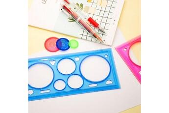 Jouets éducatifs GENERIQUE 4pc kit de dessin en spirale conception règle géométrique outil de dessin d'apprentissage papeterie