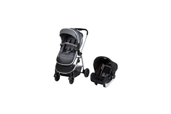 Accessoire poussette Safety First Safety first duo hello 3en1 (convertible nacelle non securitaire)+ cosi + adaptateurs cabriofix et citi black chic