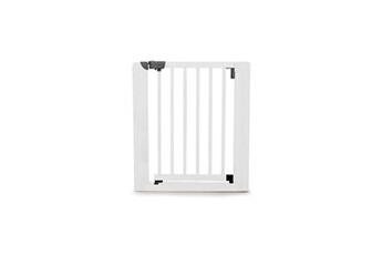 Barrière de sécurité bébé Geuther Geuther barriere de sécurité easy close en hetre massif coloris blanc pour porte et escalier - réglable : 73,5 a 81 cm