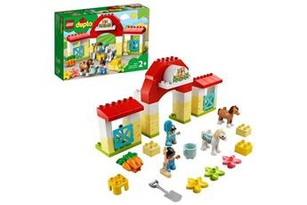 Autres jeux de construction Lego Lego 10951 duplo town l'?curie et soins de poneys jouet avec figurines pour enfant de 2 ans et +