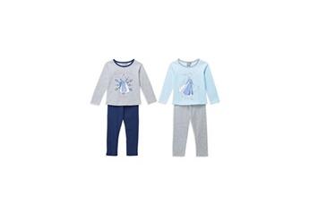 Déguisements Disney Frozen La reine des neiges 2 lot de 2 pyjamas - be you - enfant fille
