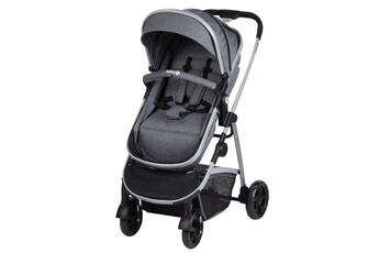 Poussette Canne Safety First Safety first poussette hello 2en1 convertible nacelle non securitaire + adaptateurs cabriofix et citi black chic